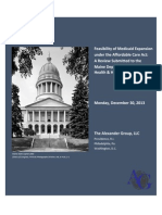 Maine Medicaid Expansion Report - Dec 30 Draft
