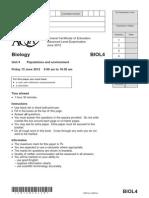 AQA Biology Paper