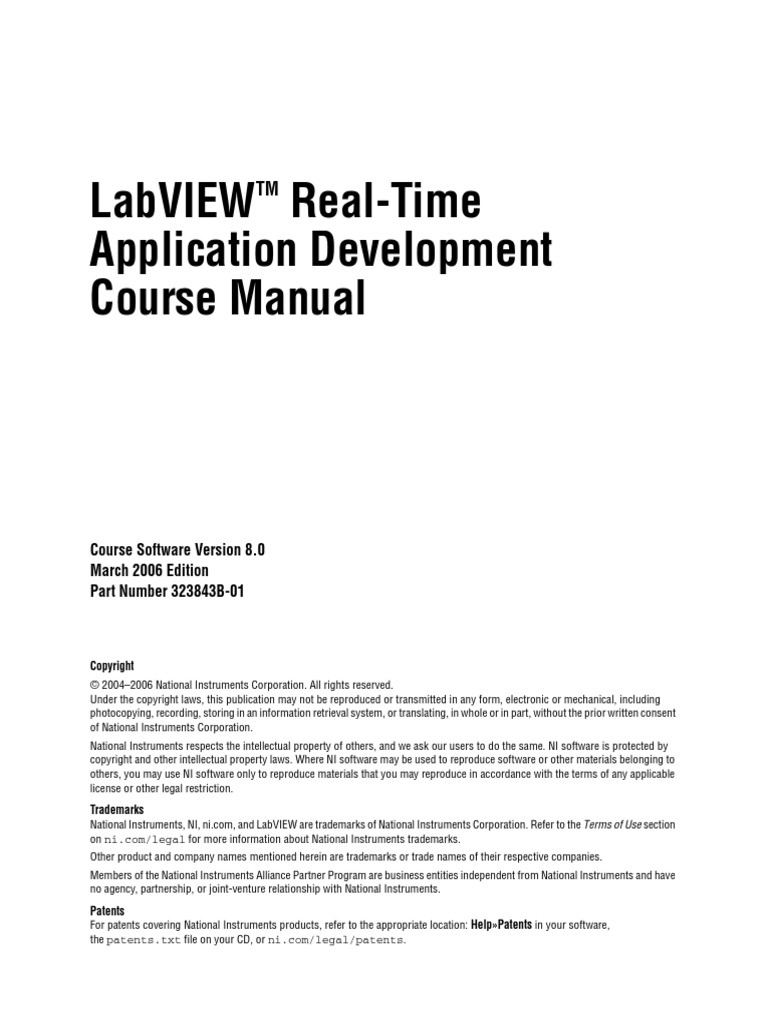 labview real time application development course manual pdf rh es scribd com LabVIEW Arduino National Instruments Can Bus N932