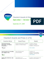 Cleantech Awards and Prizes - Sep - Oct 2009
