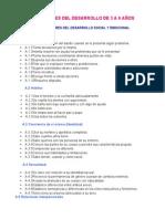 INDICADORES DEL DESARROLLO DE 3 A 6 AÑOS