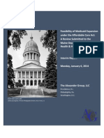 Maine Medicaid Expansion Report - Jan 6. 2013 Revision