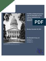 Maine Medicaid Expansion Report - Dec. 30 2012 Revision