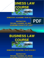 Course of Business Law Before Final Exam