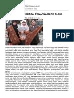 Fakultas Mipa - Kulit Manggis Sebagai Pewarna Batik Alami - 2012-04-11