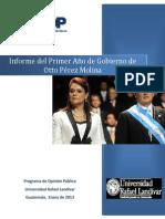 Informe del Primer Año de Gobierno de Otto Pérez Molina[1]
