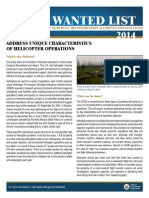 NTSB 2014 Most Wanted List - Characteristics of Helicopter Operations