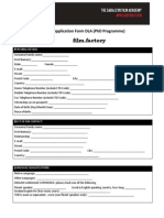 Film Factory Applicationform