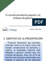 Alejandra Cárdenas Enfoque de Género