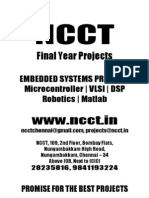 Embedded Project Titles, 2009 - 2010 NCCT Final Year Projects