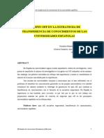 Spin off en la estrategia de transf de conocim.pdf