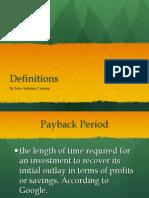Key Definitions.