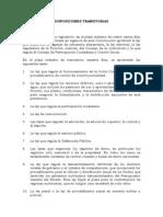 DISPOSICIÓN TRANSITORIA PRIMERA