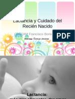 Lactancia y Cuidado del Recién Nacido taller chcc n 4