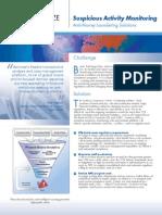 nice actimize brochure - suspicious activity monitoring solution