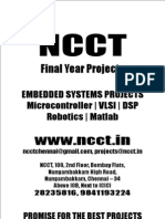 Micro Controller Project Titles, 2009 - 2010 NCCT Final Year Projects