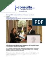 15-01-2014 E-consulta.com - Entrega RMV Su Tercer Informe Al Congreso Del Estado