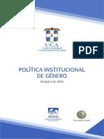 Política Institucional de Género