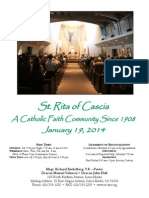 St. Rita Parish Bulletin 1/19/2014