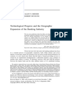 Berger - 2006 - Technological Progress and the Geographic Expansion of the Banking Industry