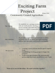 Community Created Agriculture Winter 2014 Promotional pamphlet