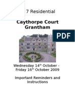 Caythorpe Court 2009 Booklet