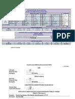 Hoja de Calculo Clasificación RMR de Bieniawski