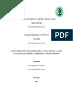 Caracterización cuenca río Ayampe
