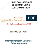 Corrosion Evaluation of Bridge Column Using Impact Echo(Edited)