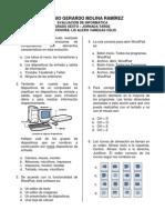 Evaluación de Informática para Sexto Grado