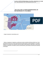 Parte Resolutiva Del Fallo de La Corte Internacional de Justica Nicaragua vs Colombia