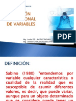Variable y Operacionalizacion