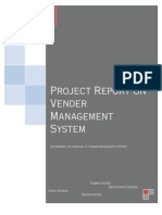 Project Report on Vender Management System