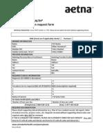 Aetna Prior Authorization Form