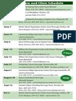Glass-Ed 2014 Show Schedule - Preliminary 2014