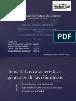 Características generales de las chimeneas
