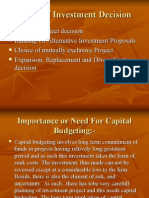 Types of Investment Decision