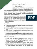 NUEPA Job Notification - Faculty Recruitment