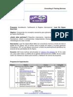 Programa México & Colombia LSSBB 2014 v2.0