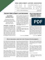Cela Bulletins 2007