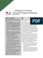 Douglah. Concept of Program Evaluation