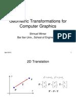 Geometric Transformations 1