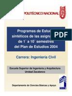 Plan de Estudios 2004 Ipn
