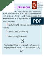 Ebraica (Litere Vocale Si Quiescente, Guturalele)