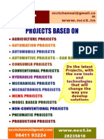 Mechanical & Model Projects List 2009 - 10 NCCT Including IEEE