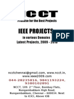 Robotics Project Titles, 2009 - 2010 IEEE NCCT Final Year Projects