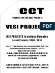 VLSI Project Titles, 2009 - 2010 NCCT Final Year Projects