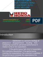 customer satisfaction of hero honda