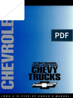 1994 Chevrolet Blazer S10 Owner's Manual