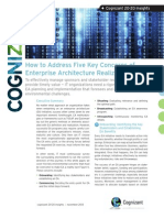 How to Address Five Key Concerns of Enterprise Architecture Realization